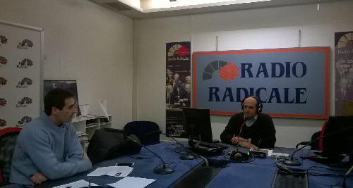 Diego Sabatinelli Segretario Nazionale Lega Italiana Divorzio Breve e Alessandro Gerardi, tesoriere, in diretta nello studio di Radio Radicale