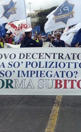 Sciopero delle polizie locali, manifestazione a Roma